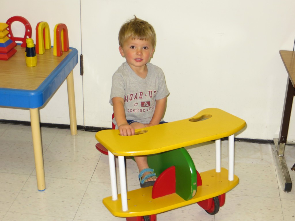 Boy sitting at a desk